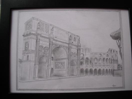 Arcul lui Constantin şi Colosseum